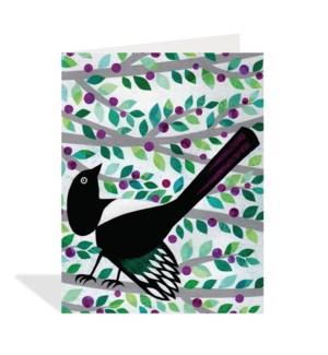 Bird On Branch Halfpenny
