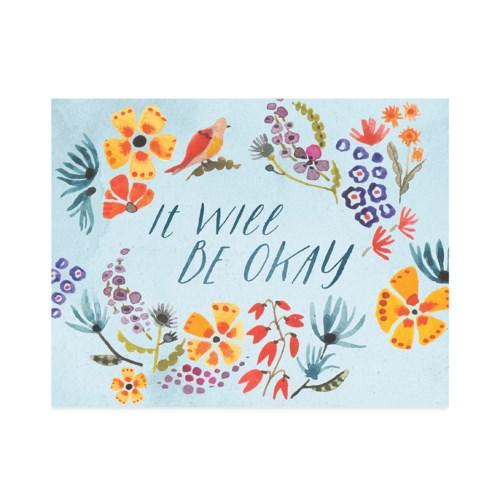 Floral Print Encouragement Halfpenny