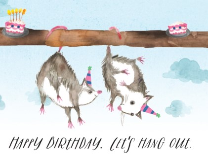Hanging Birthday Possums Halfpenny