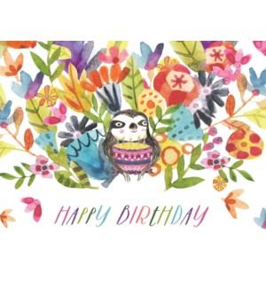 Sloth with Birthday Cake|Halfpenny