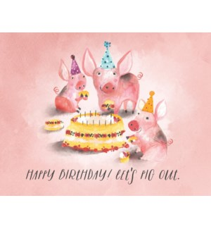 Pig Birthday|Halfpenny