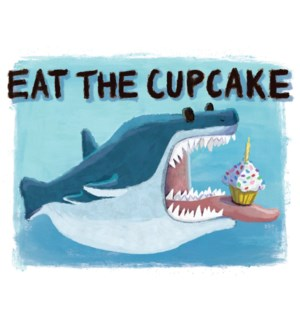 Birthday Shark Eating Cupcake|Halfpenny