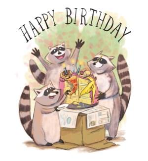 Birthday Raccoons|Halfpenny