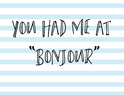 You Had Me at Bonjour|Halfpenny
