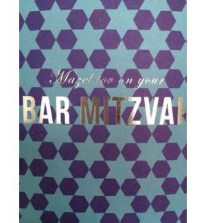 Bar Mitzvah Blue Pattern|Halfpenny