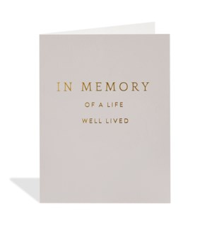 In Memory of a Life|Halfpenny