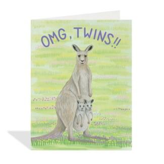 Kangaroos with Twins Halfpenny