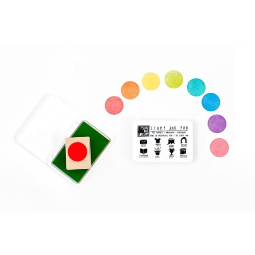 Ink Pad Rainbow 8 Colors (2 of each)