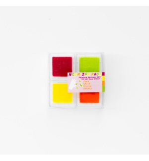 Neon Chroma Ink Pads - Pink/Orange/Green/Yellow
