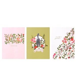 Cats Love Flowers Notebook - assort 3