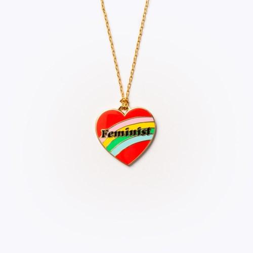 Feminist Heart Pendant