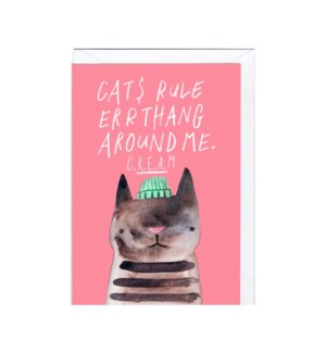Cat$ rule errthang 4x6|Jolly Awesome