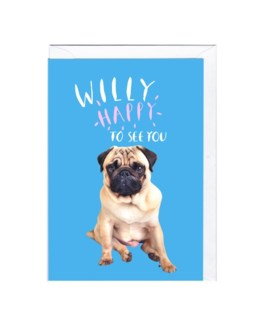 Willy Happy to See You 4x6|Jolly Awesome