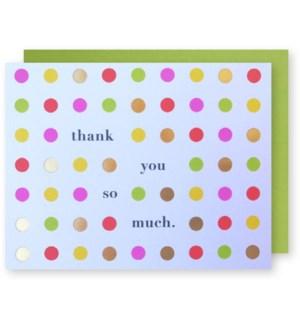 Happy Dots Thank You 4.25x5.5|J Falkner