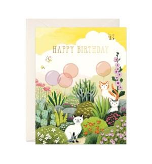 Cats in Garden Birthday|JooJoo