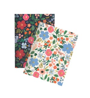 Pair of 2 Wild Rose Pocket Notebooks