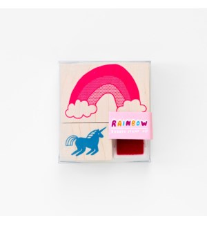 Unicorn & Rainbow Small Stamp Kit
