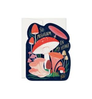 So Mushroom Die Cut Foil Love Card