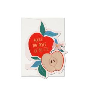 Apple Of My Eye Die Cut Foil Love Card