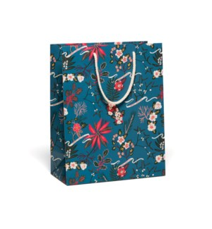 Blue Poinsettia Holiday bag