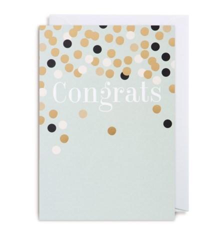 Congrats Confettie 4.25X6|Lagom Design