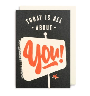 Today Is All About You 4.25X6|Lagom Design