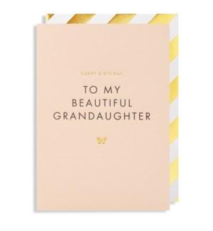 To My Beautiful Grandaughter 4.25x6|Lagom Design