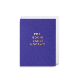 Pop! Boom! Bang! Hooray! Mini Card|Lagom Design