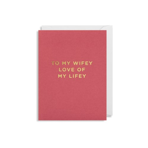 To My Wifey Mini Card|Lagom Design