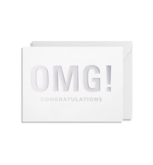 OMG Congratulations Mini Card 3.5x4.5 |Lagom Design