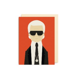 MINI CARD-Karl Lagerfield|Lagom Design