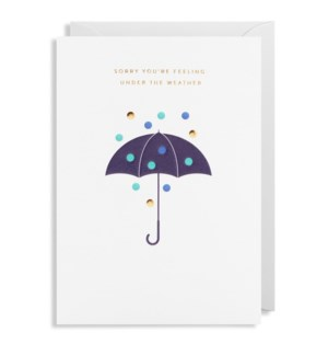 Under The Weather Umbrella 5x7|Lagom