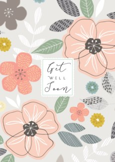 Get Well Soon Floral 5x7|Laura Darrington