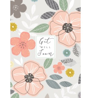 Get Well Soon Floral 5x7|Laura Darrington