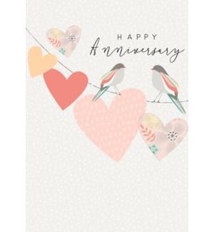 Happy Anniversary Hearts 5x7|Laura Darrington