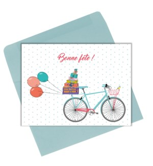 Bonne fete bicyclette 4.25x6|Lili Graffiti