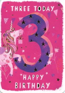 Three Today Pink 5x7|Ling Design
