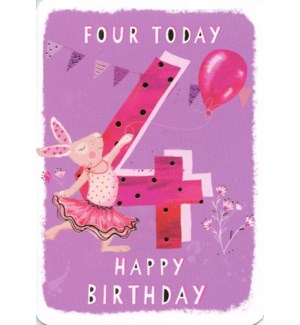 Four Today Pink 5x7|Ling Design
