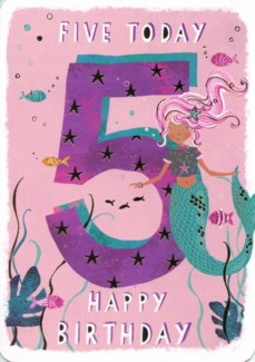 Five Today Pink 5x7|Ling Design