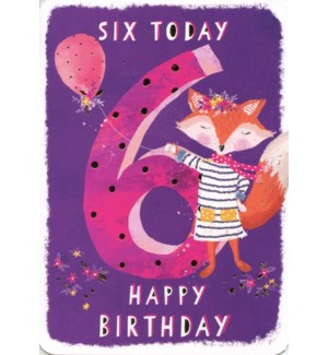 Six Today Purple 5x7|Ling Design