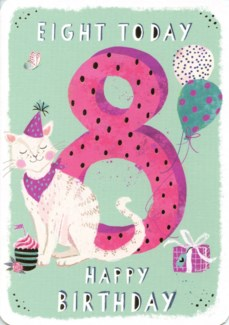 Eight Today Pink 5x7|Ling Design