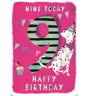 Nine Today Pink 5x7|Ling Design