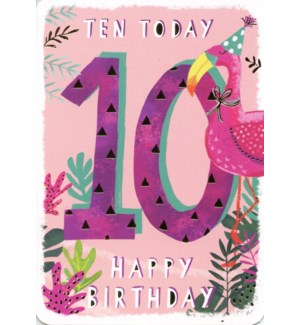 Ten Today Pink 5x7|Ling Design