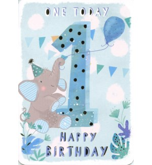 One Today Blue 5x7|Ling Design