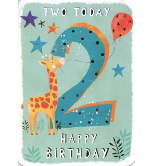 Two Today Blue 5x7|Ling Design