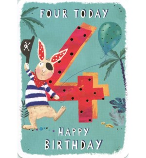 Four Today Green 5x7|Ling Design