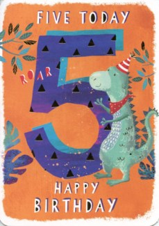 Five Today Orange 5x7|Ling Design