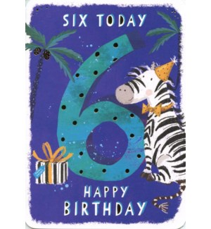 Six Today Blue 5x7|Ling Design