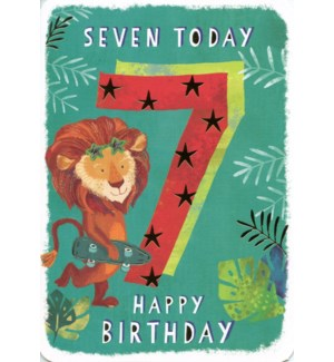 Seven Today Green 5x7|Ling Design