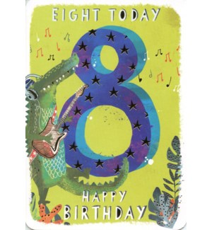 Eight Today Green 5x7|Ling Design